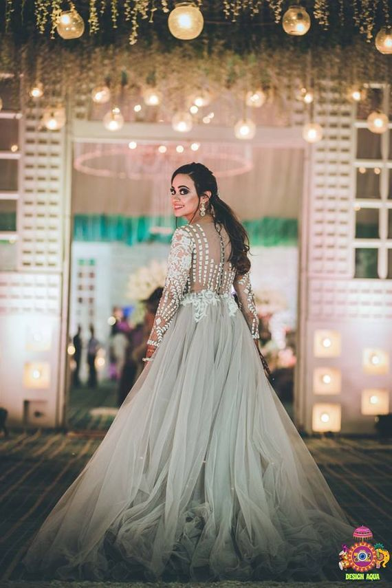 Photo of Silver embellished cocktail gown