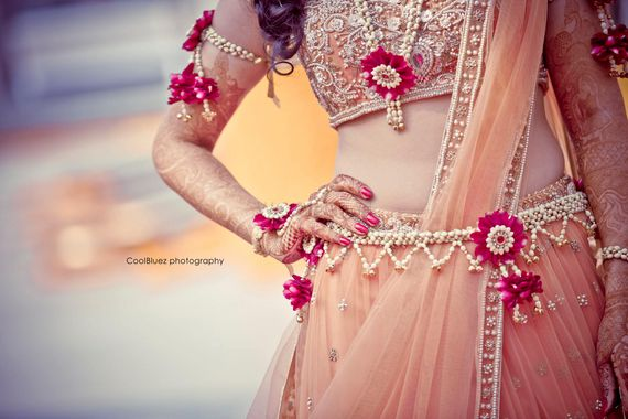 Photo of floral jewellery