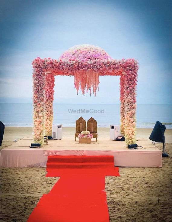 Photo of Floral mandap on the beachside