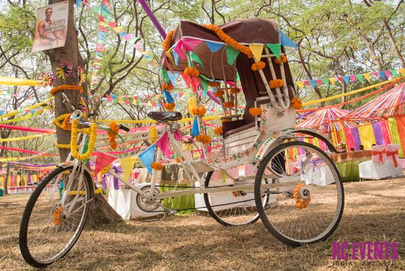 Photo of bicycle rickshaw