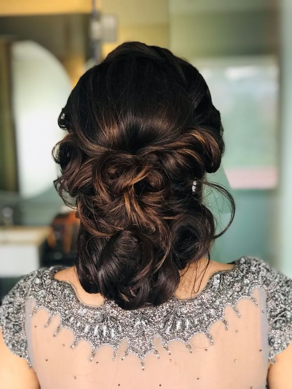 Brown Wedding Hairstyles Photo engagement hairstyle