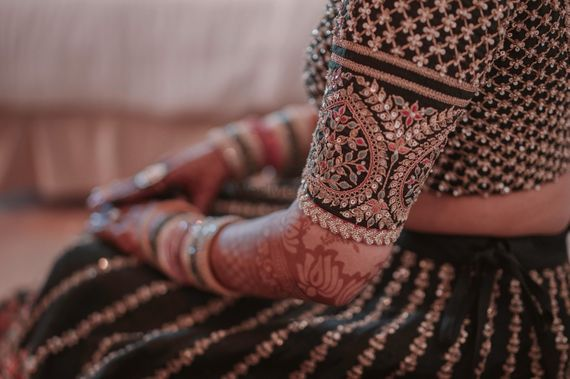 Photo of Sabyasachi bridal lehenga sleeve