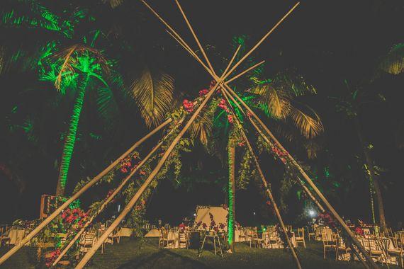 Photo of Unique teepee or tent decor idea for wedding