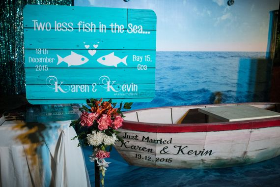 Photo of Wooden signage at weddings