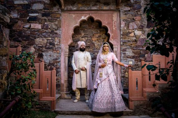 Photo of A bride and groom.