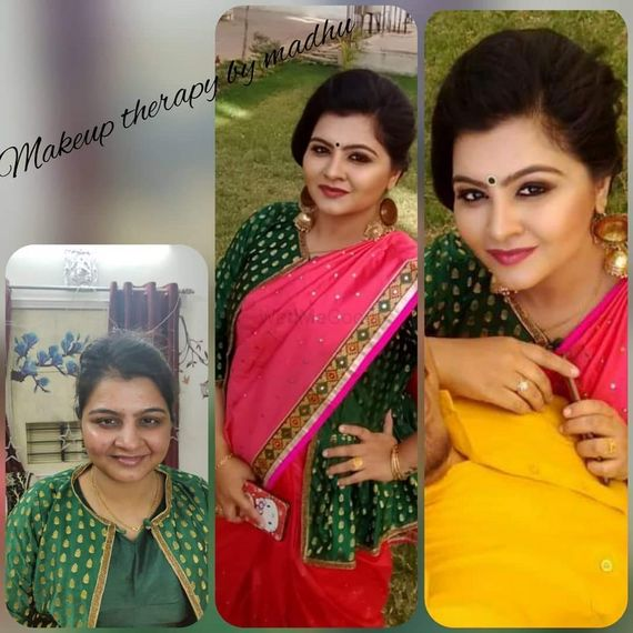 before after ( makeup transformation) - Makeup Therapy by Madhu