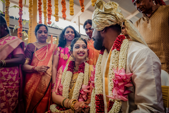 Photo of A south indian couple at their wedding ceremony