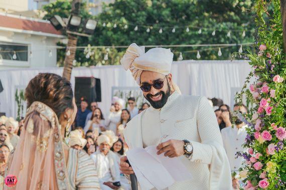 Photo of Plain and subtle groom safa