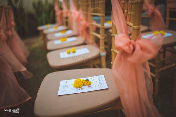 Photo of Gifts on chairs explaining the meaning of the pheras