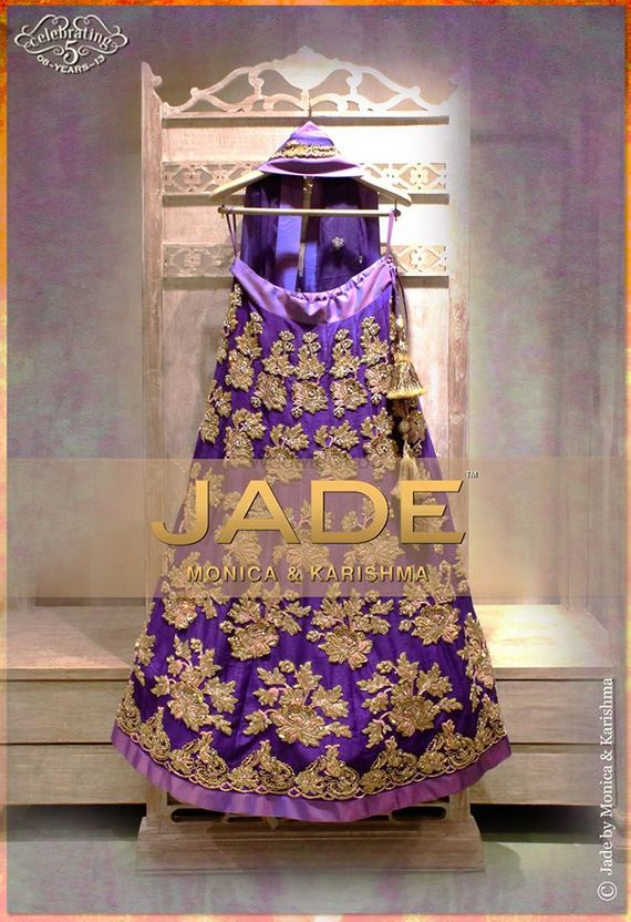Photo of deep purple lehenga