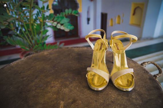 Photo of Gold Bridal Shoes