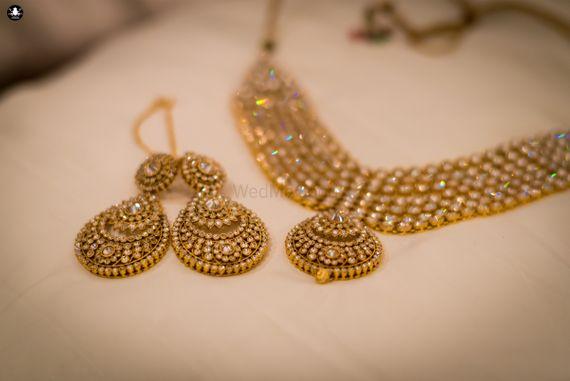 Photo of Gold Wedding Jewlery with Kundan Work