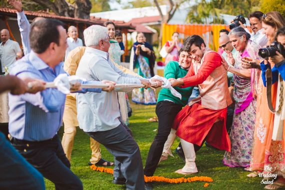 Photo of Play tug of war for men on the mehendi