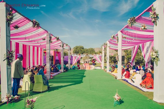 Photo of Pink and White Tent Decor