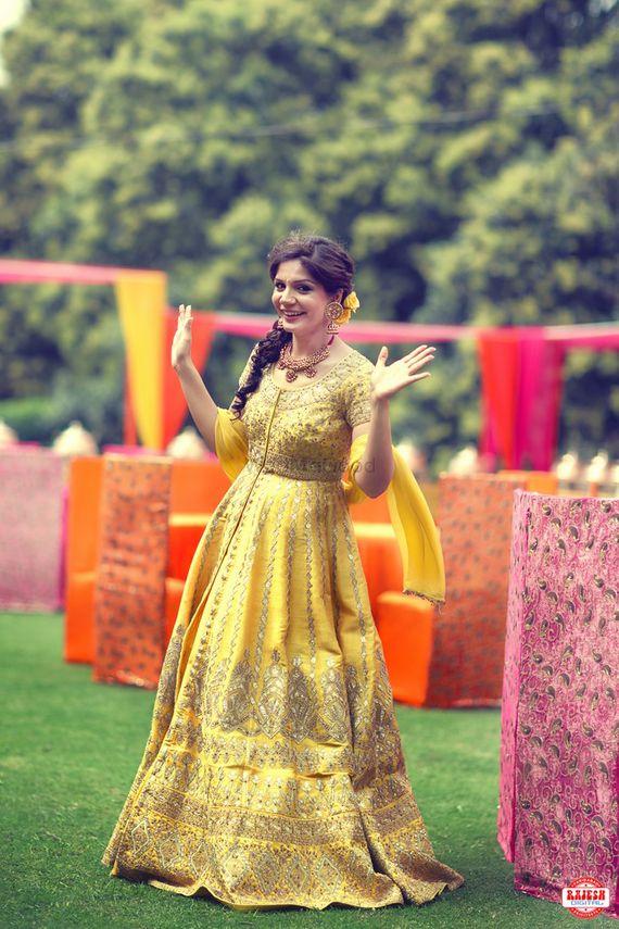 Photo of Yellow Lehenga with Gota Patti Work