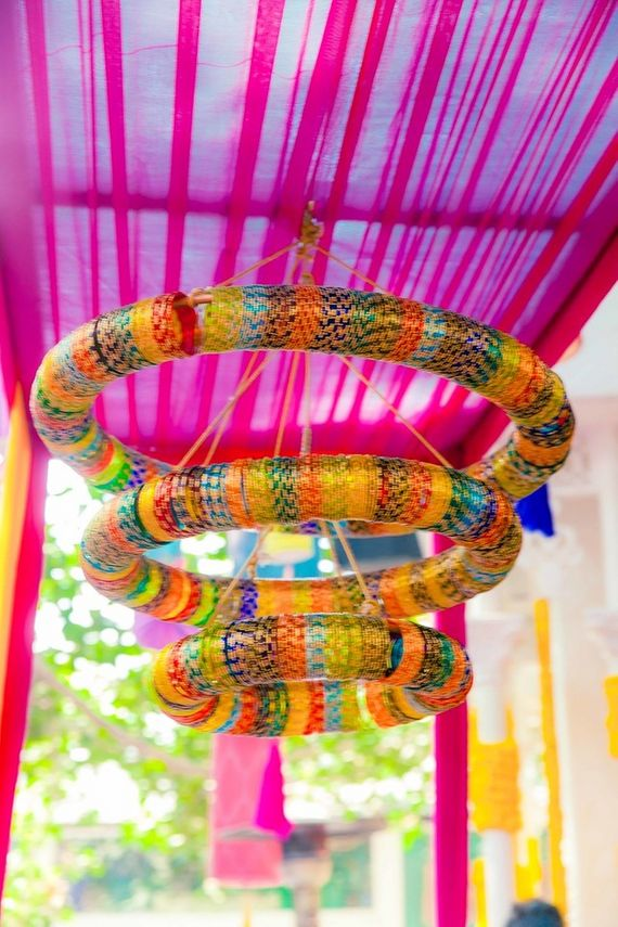 Photo of chandelier with bangles