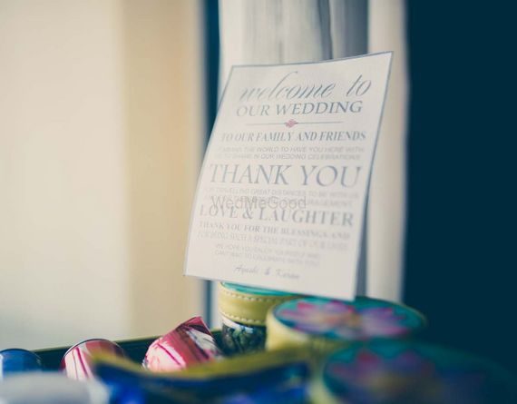 Photo of Thank You Note from Couple to Guests