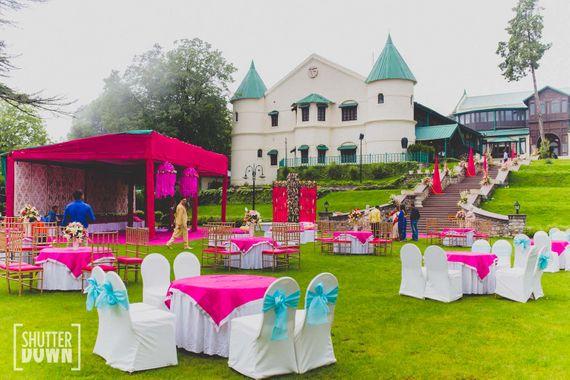Photo of Colourful Castle Theme Destination Wedding Decor