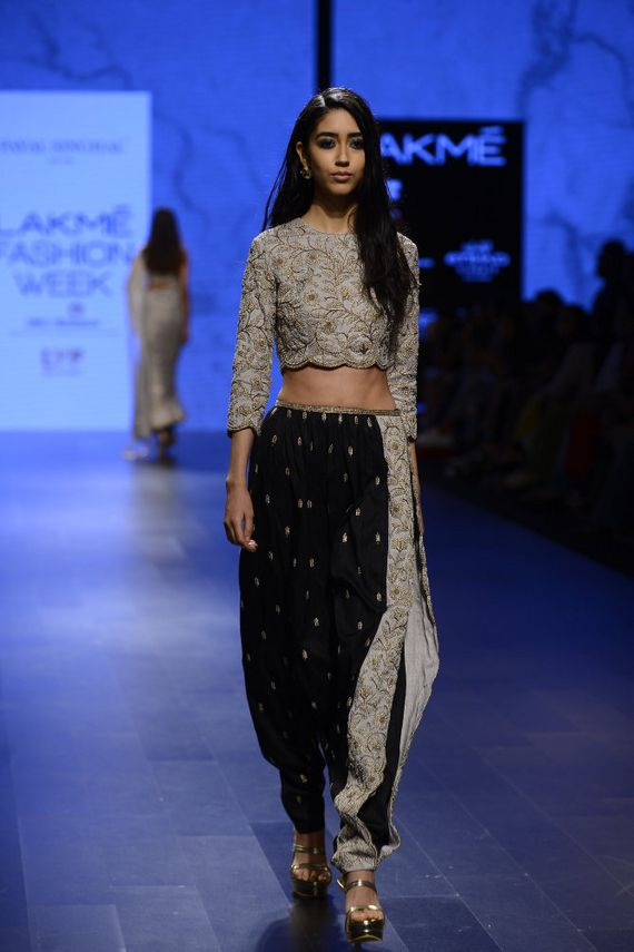 Photo of Dhoti pants and crop top