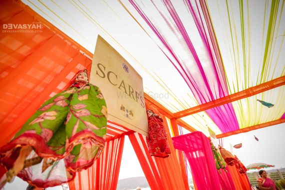 Photo of Scarf counter at destination wedding