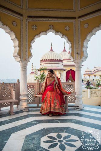 Photo of Orange and Pink Bridal Lehenga