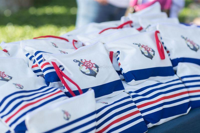 Photo of Mehendi favours nautical theme pouches