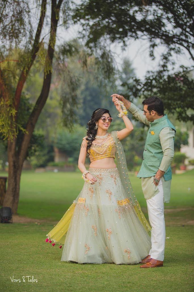 Photo of Dreamy engagement lehenga twirling bride