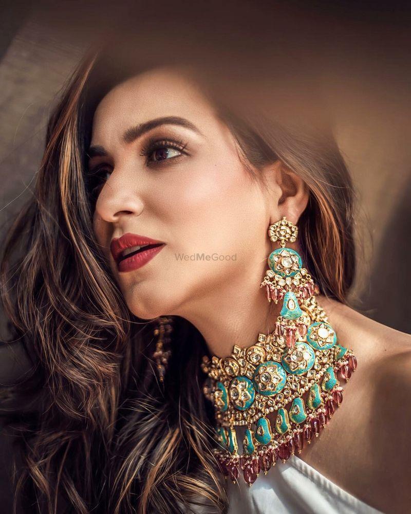 Photo of Colourful enamel necklace