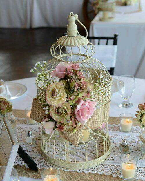 Photo Of Birdcage Floral Arrangement