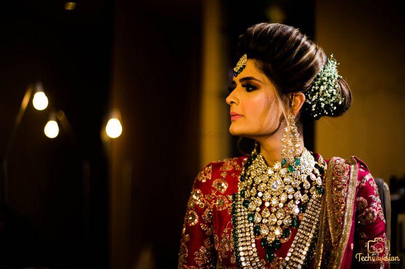 Photo of Gorgeous long raani haar with kundan stones and emeralds