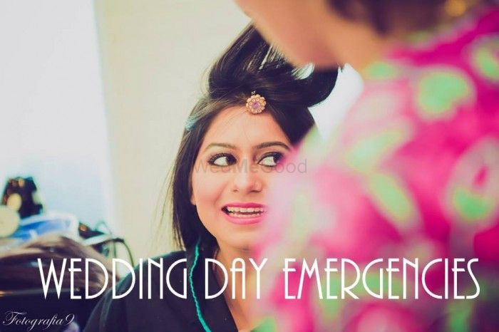 10 Wedding day emergencies & Solutions to handle them !