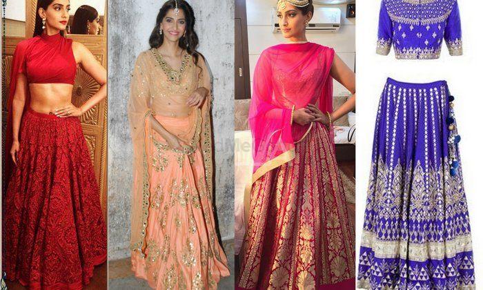 Sonam Kapoor at Dolly ki Doli Promotions: 4 Stunning Lehenga Looks !