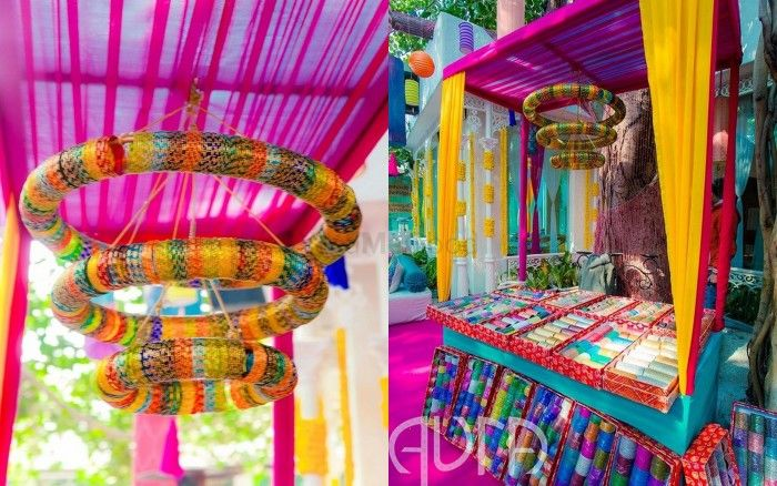 Wedmegood best indian wedding blog for planning ideas 6 innovative ways to use bangles in your wedding decor diy it junglespirit Image collections
