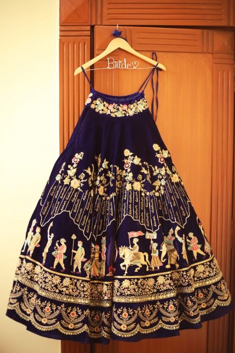 This Bride Got A Custom Lehenga With Personalised Embroidery!