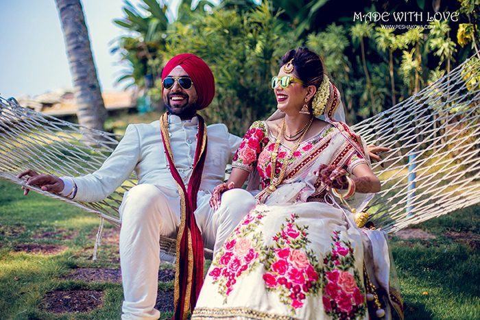 Malayali - Punjabi Beach Wedding In Varkala With A Ton Of Inspirational Ideas!