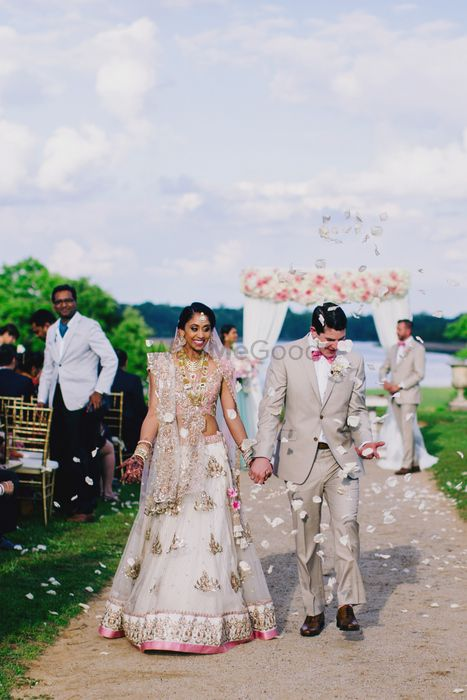 Dreamy Destination Wedding With A Pastel Lehenga And Gorgeous Matching Decor!