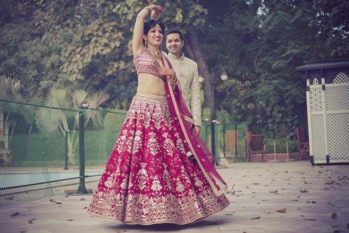 Understated Delhi Wedding With A Bride in Wine !