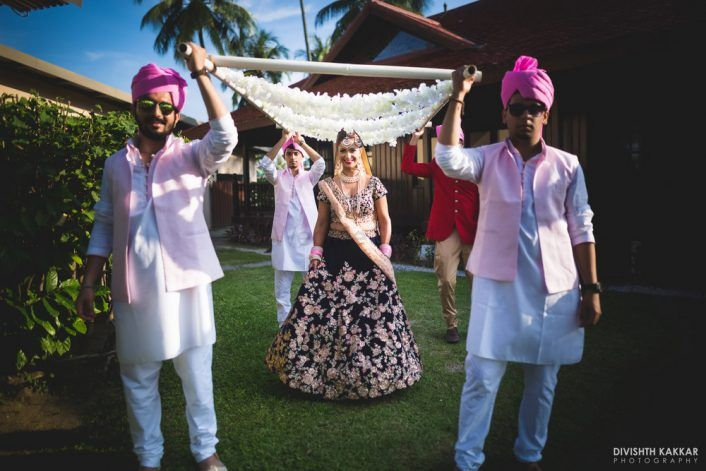 Beautiful Beach Wedding With A Bride In Blue