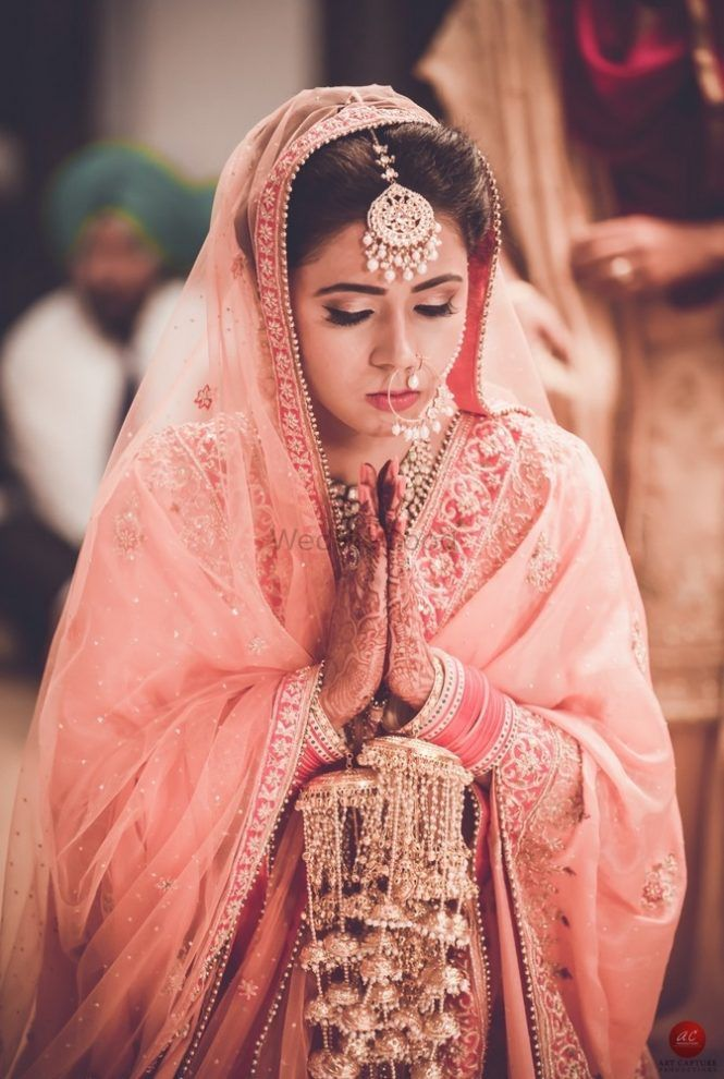 Gorgeous Chandigarh Wedding With A Bride In A Dusty Pink Lehenga!