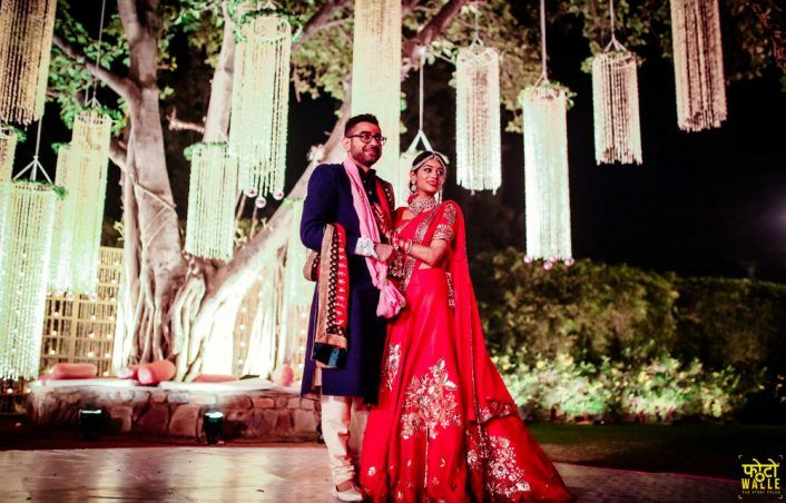 Colorful Delhi Wedding With A Bride in Red!