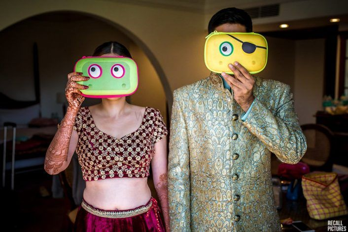 Colorful Goa Destination Wedding With A Fun Photo Op