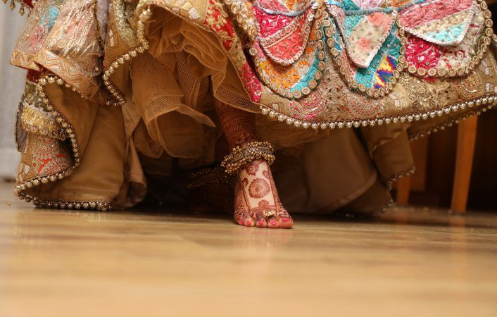 This Bride Wore A Patchwork Lehenga ....Would You ?