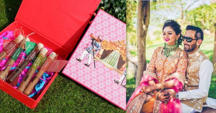 This Bride Gave Away 9 Super Creative Favours on Her Wedding..