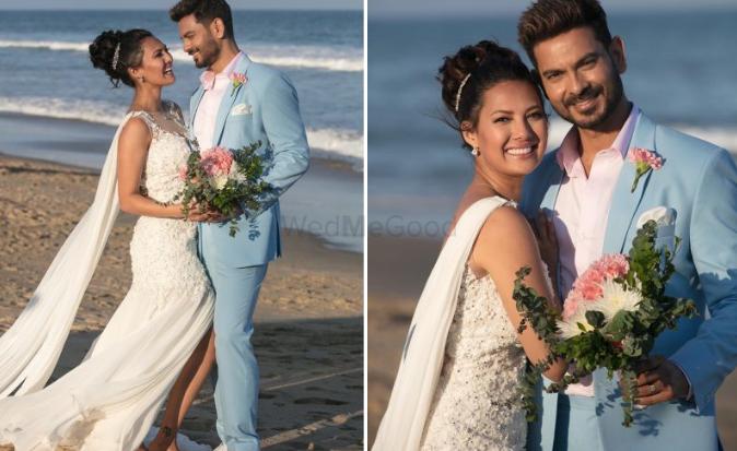 8f162074fe Celeb Couple Keith & Rochelle Had a Dreamy Beach Wedding & The Photos Are  Adorable!