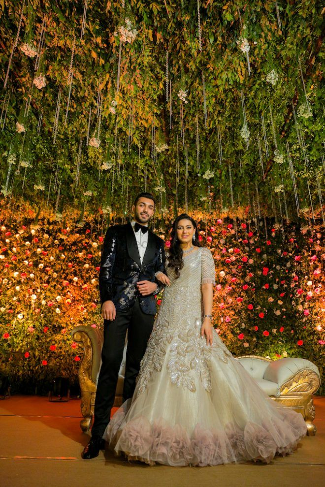Glamorous Delhi Engagement With A Slew Of  Gowns!