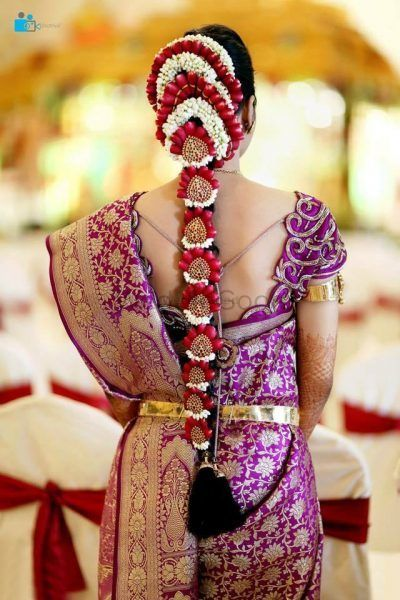 12 Pretty Floral Jadas We Spotted on South Indian Brides!