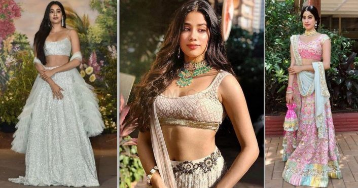 All The Lehengas Jhanvi Kapoor Ever Wore #BridesmaidGoals