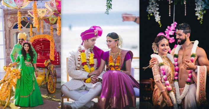 South Indian Couples Who Coordinated Their Outfits On Their Wedding!
