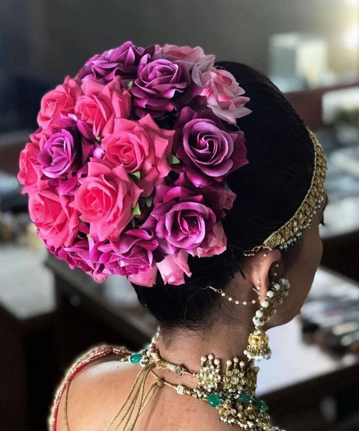 30+ Stunning Floral Bridal Buns We Spotted On Real Brides!