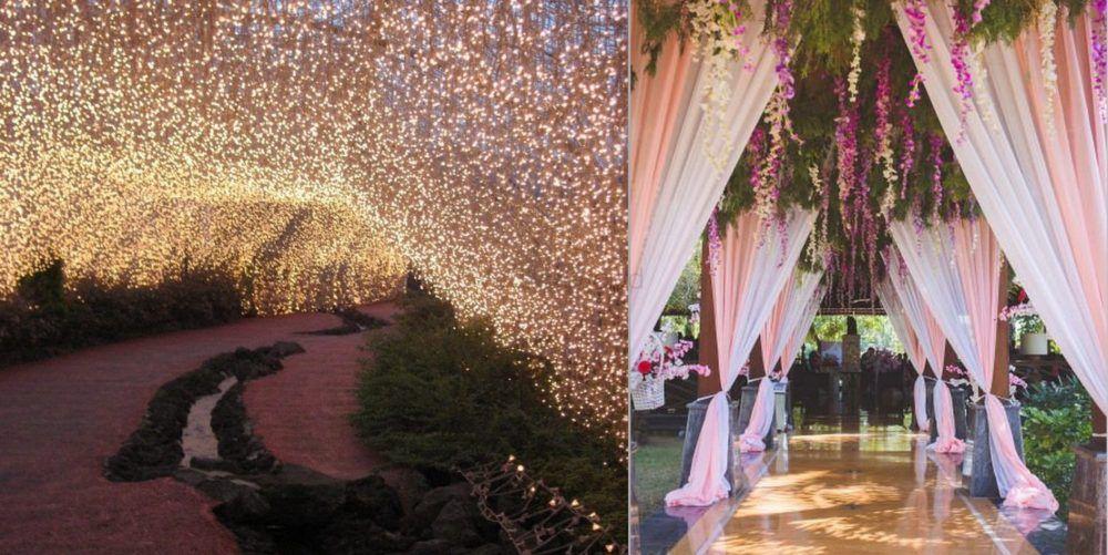 15+ Incredible Entry Walkways Into Your Wedding!